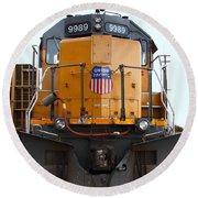 Union Pacific Locomotive Trains . 7d10589 Round Beach Towel