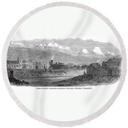 Union Pacific Station, 1869 Round Beach Towel