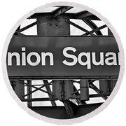 Union Square  Round Beach Towel