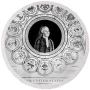 United States, 1787 Round Beach Towel
