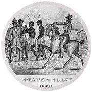 United States Slave Trade Round Beach Towel by Photo Researchers