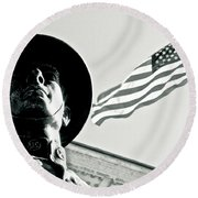 United We Stand Theme Round Beach Towel