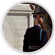 Unknown Soldier Round Beach Towel