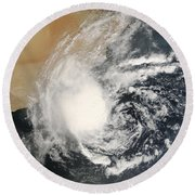 Unnamed Tropical Cyclone Approaching Round Beach Towel