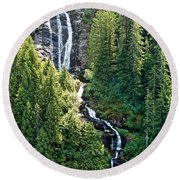 Unnamed Waterfall Round Beach Towel