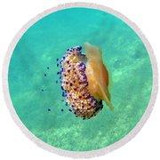 Unwelcome Jellyfish Round Beach Towel