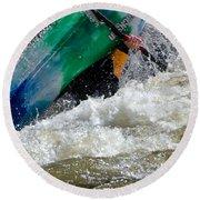 Up And Over Round Beach Towel