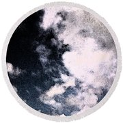 Up In The Clouds 2 Round Beach Towel
