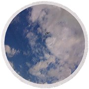 Up In The Clouds 3 Round Beach Towel