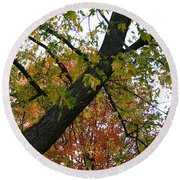 Up There Round Beach Towel