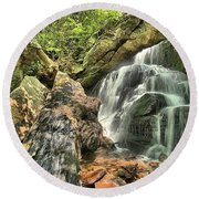 Upper Cascade Hidden Falls Round Beach Towel