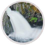 Upper Mccloud Falls 2 Round Beach Towel