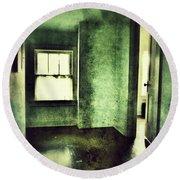 Upstairs Hallway In Old House Round Beach Towel by Jill Battaglia
