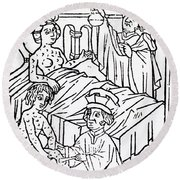 Urine Analysis, Patients With Syphilis Round Beach Towel