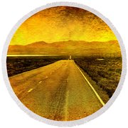 Us 50 - The Loneliest Road In America Round Beach Towel