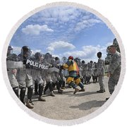 U.s. Air Force 86th Security Forces Round Beach Towel