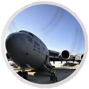 U.s. Air Force C-17 Globemaster IIi Round Beach Towel