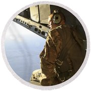U.s. Air Force Commander Sits Harnessed Round Beach Towel