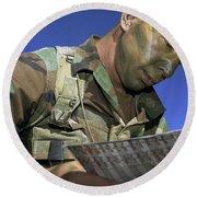 U.s. Air Force Lieutenant Reviews Round Beach Towel