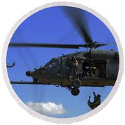 U.s. Air Force Pararescuemen Round Beach Towel