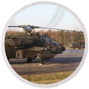 U.s. Army Helicopters At The Letzlingen Round Beach Towel