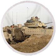 U.s. Army M2 Bradley Infantry Fighting Round Beach Towel