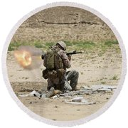 U.s. Army Soldier Fires Round Beach Towel