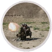 U.s. Marines Fire A Rocket-propelled Round Beach Towel