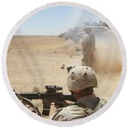 U.s. Marines Fire Several Round Beach Towel