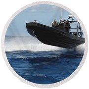 U.s. Navy Sailors Operate A Nine-meter Round Beach Towel