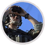 U.s. Special Operations Soldier Looks Round Beach Towel