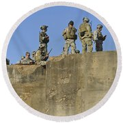 U.s. Special Operations Soldiers Round Beach Towel