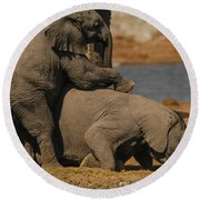 Us Together Round Beach Towel