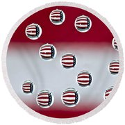 Usa Reflections Round Beach Towel