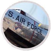 Usaf Douglas Dc-3 Transport Aircraft Round Beach Towel