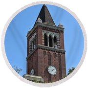 Usc's Clock Tower Round Beach Towel