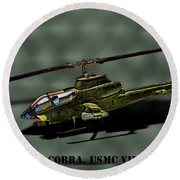 Usmc Ah-1 Cobra Round Beach Towel