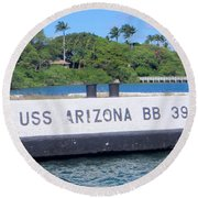 Uss Arizona Bb 39 Marker Round Beach Towel