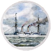 Uss Boston, 1890 Round Beach Towel