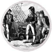 Uss Chesapeake, 1807 Round Beach Towel