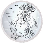 Ussua Dance - Sao Tome And Principe Round Beach Towel