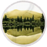 Vail Reflections 2 Round Beach Towel