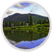 Vail Reflections 6 Round Beach Towel