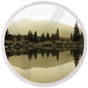 Vail Reflections Round Beach Towel