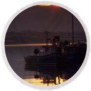 Valentia Island, County Kerry, Ireland Round Beach Towel