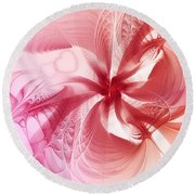 Valentine Flower Round Beach Towel