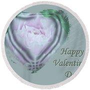 Valentine Pink Tree Peony Round Beach Towel