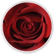 Valentine Rose - Color Round Beach Towel