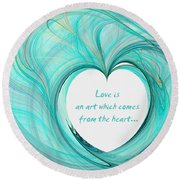 Valentines Day Round Beach Towel
