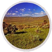 Valley At Fossil Butte Nm Round Beach Towel
